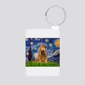 Starry Night/Cocker(#7) Aluminum Photo Keychain