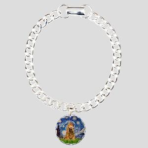 Starry Night/Cocker(#7) Charm Bracelet, One Charm