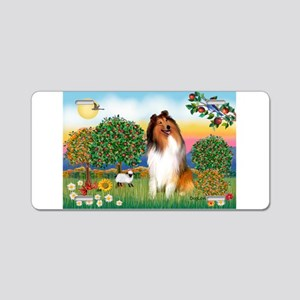 Appletrees / Collie (s) Aluminum License Plate