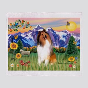 Mt Country / Collie (s) Throw Blanket