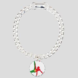 Portugal Soccer Charm Bracelet, One Charm