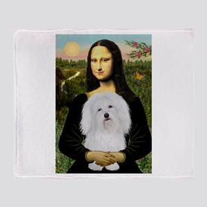 Mona/Coton de Tulear (#7) Throw Blanket