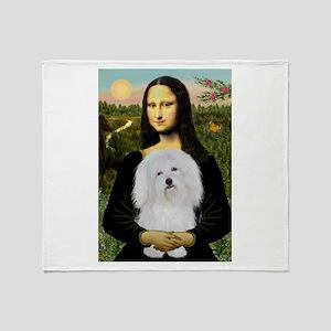 Mona/Coton de Tulear (#7) Throw Blanket