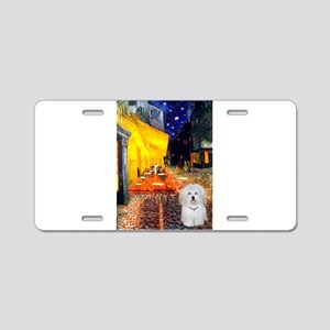 Cafe & Coton de Tulear Aluminum License Plate