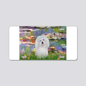 Coton in the Lilies Aluminum License Plate