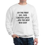 God created Linux Sweatshirt