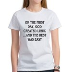 God created Linux Women's T-Shirt