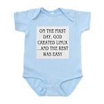 God created Linux Infant Bodysuit