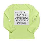 God created Linux Long Sleeve Infant T-Shirt