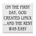 God created Linux Tile Coaster