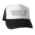 God created Linux Trucker Hat