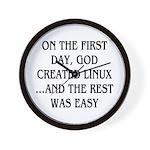 God created Linux Wall Clock
