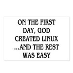 God created Linux Postcards (Package of 8)
