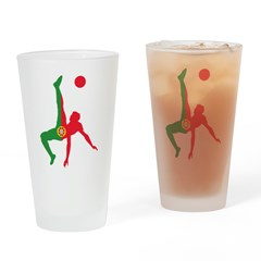 Portugal Soccer Drinking Glass