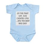 God created UNIX Infant Bodysuit