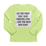 God created UNIX Long Sleeve Infant T-Shirt