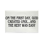 God created UNIX Rectangle Magnet (100 pack)