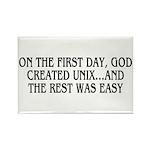 God created UNIX Rectangle Magnet (100 pack)