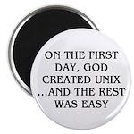 God created UNIX Magnet