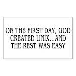 God created UNIX Sticker (Rectangle 50 pk)