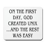 God created UNIX Mousepad
