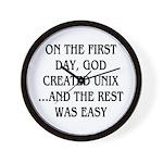 God created UNIX Wall Clock