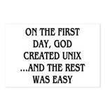 God created UNIX Postcards (Package of 8)