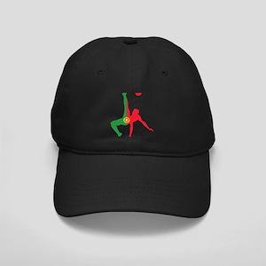 Portugal Soccer Black Cap