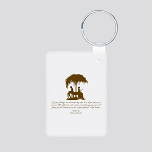 Jane Austen Gift Aluminum Photo Keychain