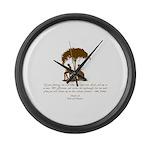 Jane Austen Gift Large Wall Clock