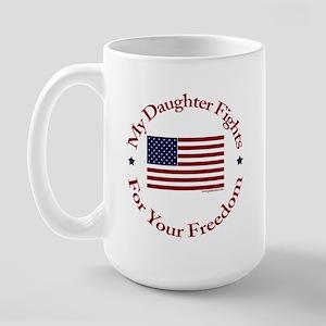 My Daughter Fights Large Mug