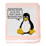 Never trust an OS baby blanket