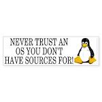 Never trust an OS Sticker (Bumper 10 pk)