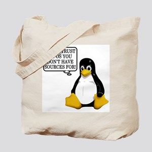 Never trust an OS Tote Bag