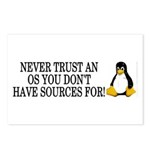 Never trust an OS Postcards (Package of 8)