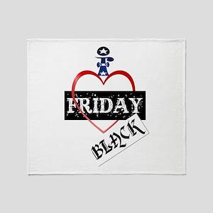 I Love Black Friday Throw Blanket