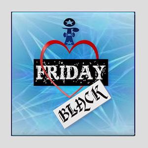 I Love Black Friday Tile Coaster