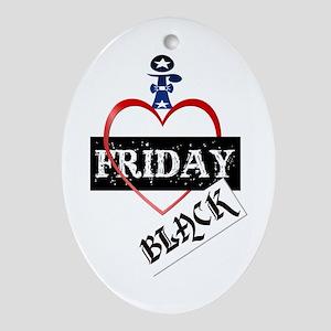 I Love Black Friday Ornament (Oval)