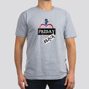 I Love Black Friday Men's Fitted T-Shirt (dark)