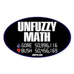 UNFUZZY MATH Oval Sticker