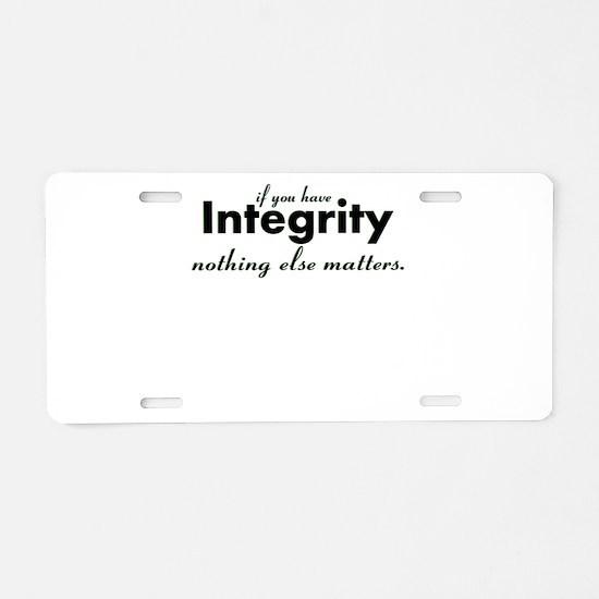 Cute Integrity Aluminum License Plate
