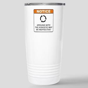 Agnostic / Argue Stainless Steel Travel Mug