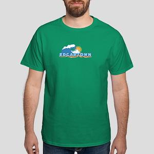 Edgartown MA - Waves Design. Dark T-Shirt