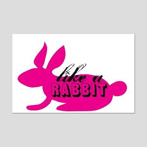 LIKE A RABBIT Mini Poster Print