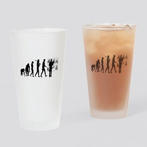 Advertising Evolution Drinking Glass