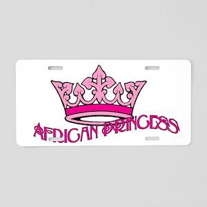 African Princess Aluminum License Plate