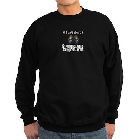 All I Care About Is Birding a Sweatshirt (dark)