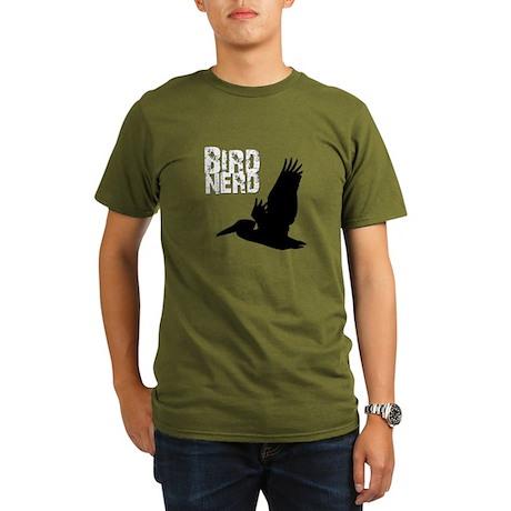 Bird Nerd (Pelican) Organic Men's T-Shirt (dark)