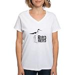 Bird Nerd (Stilt) Women's V-Neck T-Shirt
