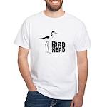 Bird Nerd (Stilt) White T-Shirt